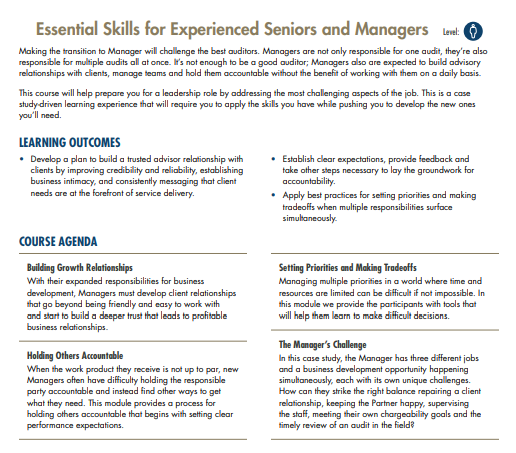 Essential Skills For Seniors and Managers | MRA Learning